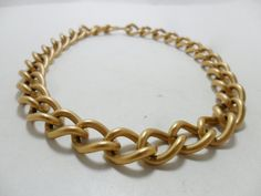 Vintage Necklace / Collar / Choker Gold Tone Metal by KathiJanes, $22.95
