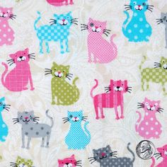 Cats Collection Stripes Dots Checkers Pink Green by masterpiecegd, $2.99