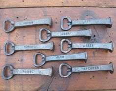 1000+ images about Blacksmithing - Railroad Spike Projects on ...