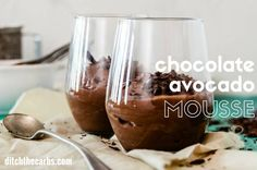 Easy blender recipe for chocolate avocado mousse. Avocados are packed with fibre, vitamins E, C, B6, A, calcium, iron, magnesium, riboflavin, thiamin ...
