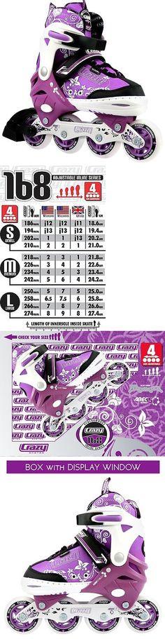 Youth 71156: Crazy 168 Kids Adjustable Inline Skates - Rollerblades Adjusts 4 Sizes Pro Skate -> BUY IT NOW ONLY: $59 on eBay!