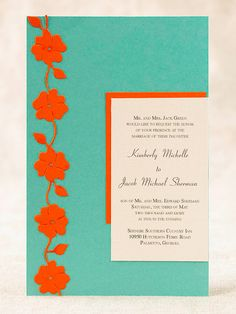 Pop of Color wedding invite