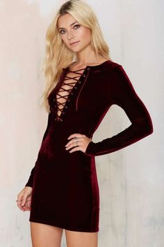 slay those night vibes in this burgundy velvet stunner