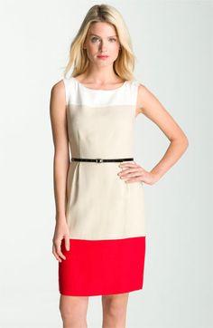 color-blocked sheath dress by Kate Spade