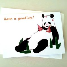 Panda Birthday Cards