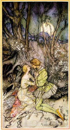 Arthur Rackham Rarer PRINCESS And Prince.  by DandDDigitalDelights, $1.99