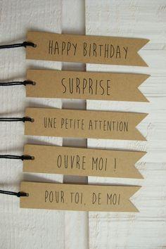 Lot de 20 Tag Etiquettes Paquet Cadeau Kraft *