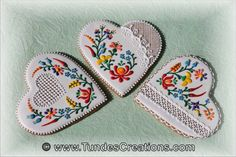 Gingerbread Hearts with Hungarian Folk Art by TundesCreations