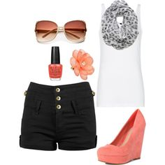 Coral <3 Love it, but don't know if I could do the shoes...