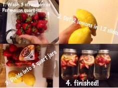 Strawberry lemon detox water