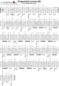 Fingerstyle lesson 96 - acoustic guitar tab