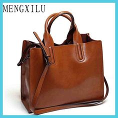 Women Shoulder Messenger Bags Leather Handbags Large Women Bag High Quality Casual Bags Women Trunk Tote Clear-Cut Texture Women's Bags Back To Search Resultsluggage & Bags