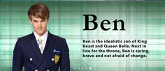 "Disney ""Descendants"" - The players: Prince Ben"