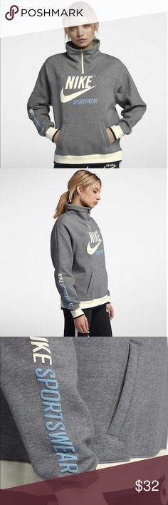 Nike Vintage Hoodie Girls Blue Camo Print Full Zip Youth Gym