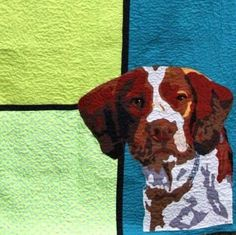 Dog Quilt (Made to order) in all colors and sizes - by Mary Mack and Angie Atchie, CottonSheep. $250.00, via Etsy.