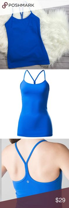 Lululemon Luon Power Y Tank Pipe Dream Blue Sz 6 LULULEMON POWER Y TANK  PIPE DREAM BLUE COLOR!  NWOT!!  Flow freely through all types of yoga in this thin-strapped, racerback tank Luon® Our sweat-wicking, four-way stretch Luon® fabric is cottony soft sweat-wicking four-way stretch cottony-soft handfeel quick recovery naturally breathable lululemon athletica Tops Tank Tops