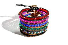 Find these Crystal Beaded stacking bracelets by JewellerybyRej on Etsy