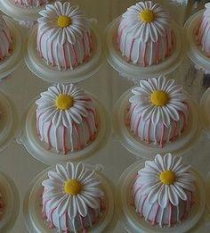 pinky strip daisy mini cake