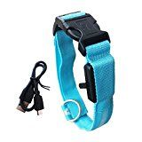Review for LED Pet Collar Sunklly Chargable Nylon Dog Collars - Middle (15.7\