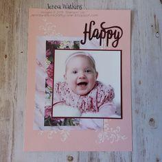 Petal Promenade DSP 6 x 8 Scrapbook Page with Ink & Share Scrapbook Hop December - Embossing Jenna Watkins Crafty Corner - Book Layout, Emboss, Scrapbook Pages, Stampin Up, December, Corner, Memories, Ink, Crafty