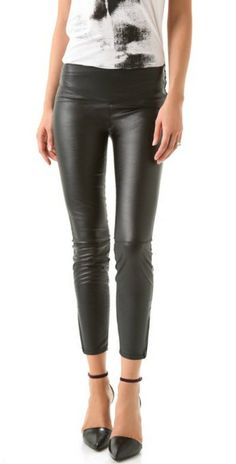 H&M Faux Leather Leggings
