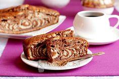 Фото пирога «Зебра» на сметане