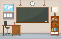 Cool Powerpoint Backgrounds, Background For Powerpoint Presentation, Classroom Background, Kids Background, Vector Background, Classroom Furniture, Classroom Decor, Kindergarten Classroom, School Classroom
