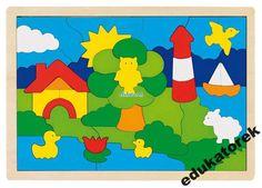 Drewniana mozaika LATARNIA puzzle 52 el. GOKI