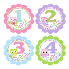 Baby Month Stickers FREE Newborn or Milestone by MySweetBabyCake, $10.00