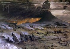 Across Gorgoroth ~ Ted Nasmith. One of my favorites! Look closely and you will see why it is so inspirational.
