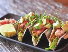 Light and refreshing, these are an awesome upgrade to a typical chicken taco. on goop.com. http://goop.com/recipes/lobster-tacos/