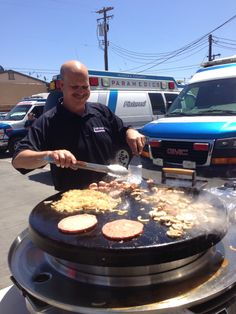 Hamburgers, grilled onions and mushrooms for wonderful employees during National EMS Week
