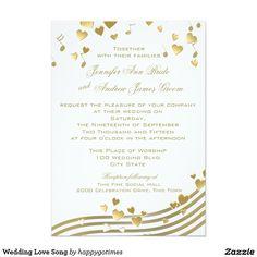 Bird Love Song Music Wedding Invitation