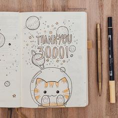 CatBlob Space Astronaut is back! I can't believe that I already have over 3000 followers on this account! I drew this last Friday but just finished taking photos. Thank you everyone for all of your support, I have really appreciated all the comments, encouragements and shares. If you do use my designs for your journal, please tag me in the picture, I would love to see! (I need to find an easy way to collect all the posts so I can feature you all). Thank you again! I will keep working hard to…