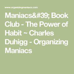 Organizing Maniacs'