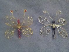Beaded Butterfly ornaments. A creation out of my head, i sell these for $10.