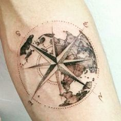 map compass tattoo