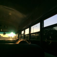 Nostalgic and melancholy. I want to be able to portray the feeling you get on long school bus rides.