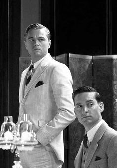 Tobey Maguire and Leo DiCaprio in The Great Gatsby