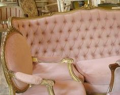 Louis XV Bergere Chair and Sofa in soft pink. Anything that is cushionie in the righ shade and fabric i ADORE!
