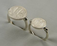 MONOGRAM RING...for wearing in place of wedding ring when traveling, etc