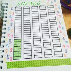 Savings tracker for bullet journal #bujo #bulletjournal #savings