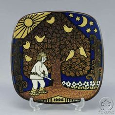 1995 Kalevala plate Finland, Plates, Culture, Tableware, Cards, Beautiful, Ceramic Pottery, Licence Plates, Dishes