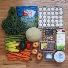 Here's what $30 worth of #groceries looks like. For clean eating budget tips, check out craftycoin.com! | Real Food Grocery Haul // Week of 6.21.15 | Crafty Coin