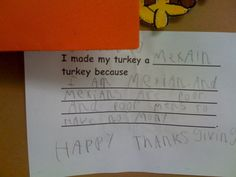 Unintentionally Inappropriate Test Responses From Children | Happy Place...HAPPY THANKSGIVING!