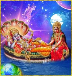 "☀ SHRI LAKSHMI NARAYAN ॐ ☀ ""My Lord Vishnu and mother Lakshmi, goddess of fortune, you are the proprietors of the entire creation. Indeed, you are the cause of the creation. Mother Lakshmi is. Photos Of Lord Shiva, Lord Krishna Images, Radha Krishna Images, Krishna Art, Krishna Songs, Krishna Pictures, Radhe Krishna, Karma, Shiva Shankar"