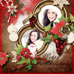 Layout using {Classic Christmas} Digital Scrapbook Kit by Eudora Designs available at PBP     https://www.pickleberrypop.com/shop/manufacturers.php?manufacturerid=173