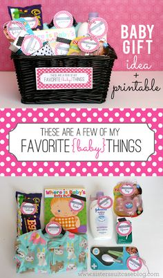 My Sisters Suitcase: Baby Gift + Printable Tags {Favorite Things}
