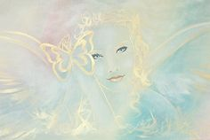"Limited angel art poster ""angel"", modern contemporary angel painting, artwork, print, glossy photo,"