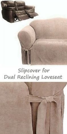 2 Seat Reclining Sofa Cover Comfy Sofas Uk 157 Best Slipcover 4 Recliner Couch Images In 2019 Love Dual Loveseat Suede Taupe Sure Fit Seater